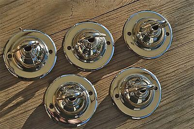 Set Of 5 Antique Style Chrome Light Rose Hook Ceiling Hook Chadelier Hanger Nr7