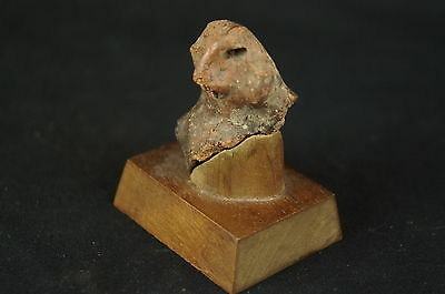 "Excellent Pre-Colombian unusual ceramic artifact w. stand 2"" [Y8-W6-A9-E9]"