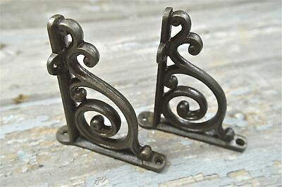 A Pair Of Small Victorian Style Scroll Brackets Cast Iron Shelf Bracket V1 3