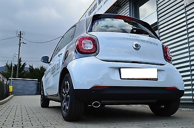 Auspuffblende Endrohr Smart Fortwo Forfour Typ 453 oval ab 2014 TÜV - Frei