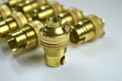 10 brass bayonet B22 bulb holder earth lamp holder shade ring 1/2 inch entry L3 3