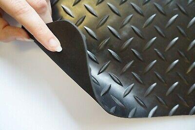 Heavy Duty Rubber Matting Garage Flooring 3mm or 4mm Roll Mat Van Car Lorry 3