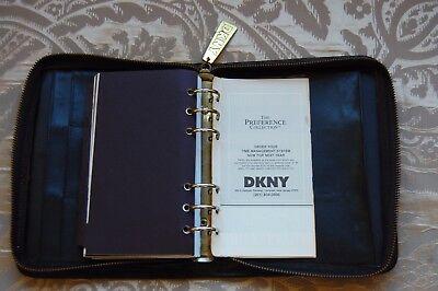 Vintage Dkny Donna Karen Black Leather Planner Address Book Cover 6