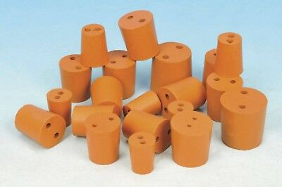 Rubber Bungs Stoppers Laboratory Two Hole Stoppers Various Sizes *Multi Listing*