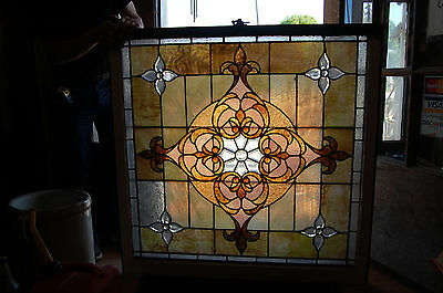 Large Antique Stained Glass Window Vibrant Colors Beveled  Glass 2 Available 3