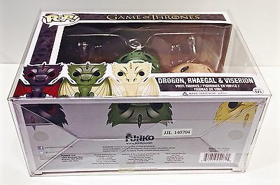 1 Box Protector For Many (Not All) FUNKO POP! 3 Packs  Read! Clear Display Case 8