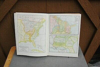 Harpers Atlas American History HC 1920 Dixon Ryan Fox Rare Maps Color 168 pg 5