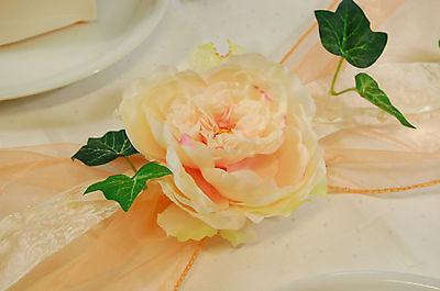 Komplette Tischdeko In Apricot Fur Hochzeit Geburtstag Kommunion