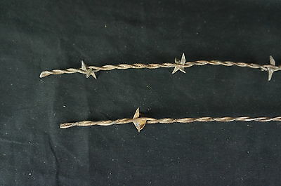 """Nice Antique Two Barbed Wire Fragments 21"""" [Y7-W2-A8-E8] 5"""