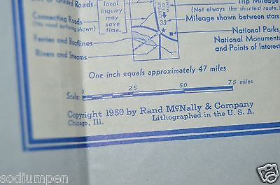 VINTAGE 1950 SUNOCO Oil Gas Station Paper Road Map of the ...