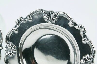Beautiful Set of two (2) Sterling Silver Repousse Butter Pats. 2
