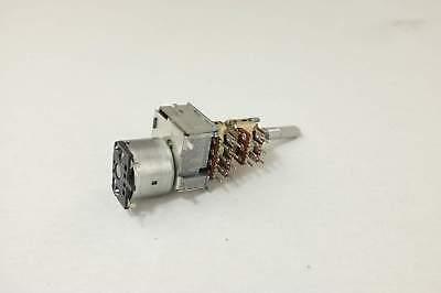 ALPS 16mm 4-Gang B50K 50K Linear Motorized Potentiometer 28mm D Shaft 16 Pins