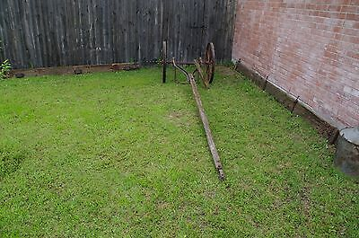 Antique Metal Rustic Wagon Wheels with sprocket Axle  Garden Yard western art 4