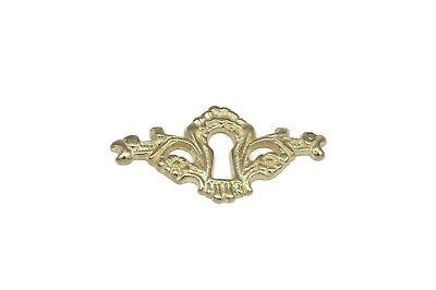 "2 5//16/"" Keyhole Cover Plate Escutcheon Furniture Key Hole Cover Brass Lock Plate"