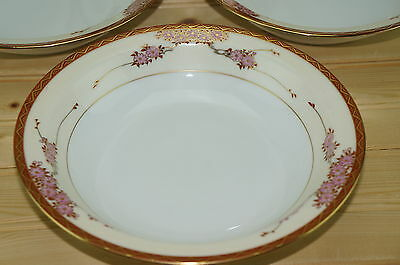"Soko Three Cherries (6) Rimmed Soup or Cereal Bowls, 7 7/8"" 2"