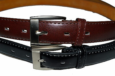 Belt Dress Mens Big And Tall Set Of 2 Black  Brown Free Shipping Gift Idea New 4