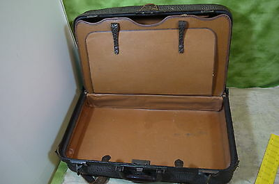 10 Of 12 Vintage Luggage Suitcase Leather Brown Around 24x14x8 With