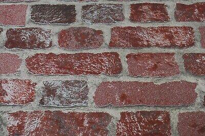Tapete Marburg 58408 Steinoptik  Vliestapete Ziegel Rot Granulat EUR 3,24//qm