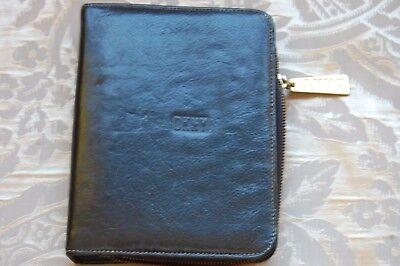 Vintage Dkny Donna Karen Black Leather Planner Address Book Cover 7