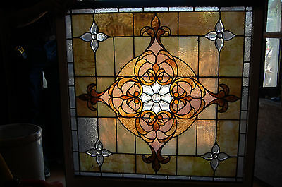 Large Antique Stained Glass Window Vibrant Colors Beveled  Glass 2 Available 4