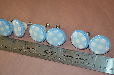 Lot of 11 Vintage knobs handles drawer cabinet pulls Ceramic #1711 4