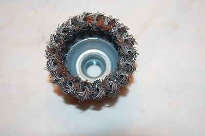 """JAZ 2-3/4"""" Twist Kot Cup Brush .020 Temp. Steel 5/8""""-11 2"""