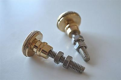 Pair of superb quality antique brass furniture knobs handles chest knob 2010