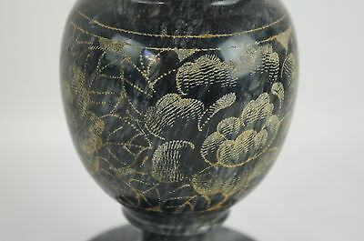 Nice Black Stone Carved Vase - Dead Sea, Heavy #1 of 3 5
