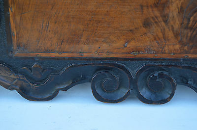 French Antique Gothic Hand Carved Walnut Wooden Pediment - Blazon 17th.c 6 • CAD $437.72