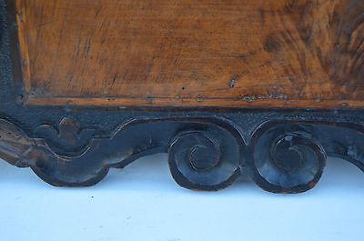 French Antique Gothic Hand Carved Walnut Wooden Pediment - Blazon 17th.c 6