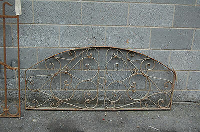 Antique Decorative Arched Iron Panel Garden Artfrom Egypt Upcycle Headboard 3