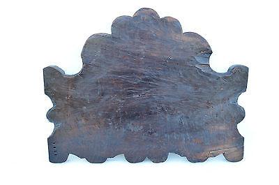 French Antique Gothic Hand Carved Walnut Wooden Pediment - Blazon 17th.c 8