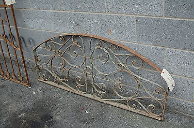 Antique Decorative Arched Iron Panel Garden Artfrom Egypt Upcycle Headboard 4