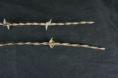 """Nice Antique Two Barbed Wire Fragments 21"""" [Y7-W2-A8-E8] 4"""
