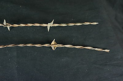 "Nice Antique Two Barbed Wire Fragments 21"" [Y7-W2-A8]"