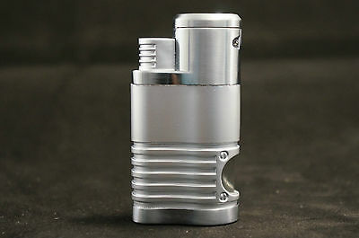 Zico (ORIGINAL) Refillable Butane Huge (4 head) Torch Flame Lighter Silver 3