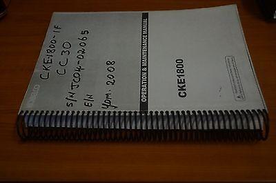 Kobelco Operation & Maintenance Manual CKE1800 4