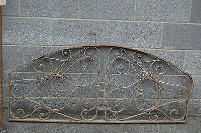 Antique Decorative Arched Iron Panel Garden Artfrom Egypt Upcycle Headboard 2