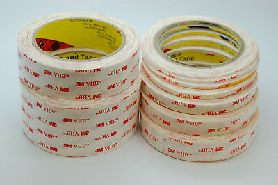 Thin 3M VHB Tape 4914 For LCD/Display and Bezel bonding, White, 0.25mm Thick 2