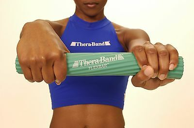 Thera-Band Flex Bar Yellow Extra Light Resistance Grip Wrist Hand REHAB 6 lbs