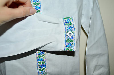 NEW Hand Made Vyshyvanka Traditional White formal Shirt for boy 3-4 years old 3