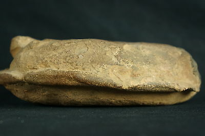 "Antique Roman Pottery Oil lamp / artifact ca. 3rd c. AD 5 1/2"" [Y8-W6-A9-E9] 6"
