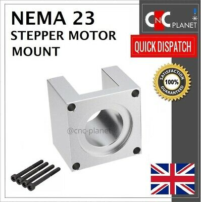 Nema 23 57mm Stepper Motor Mount Aluminum Bracket + Screw CNC 3D Printer UK FAST 9