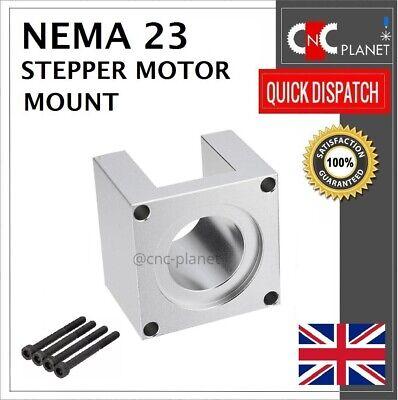 Nema 23 57mm Stepper Motor Mount Aluminum Bracket + Screw CNC 3D Printer UK FAST 12