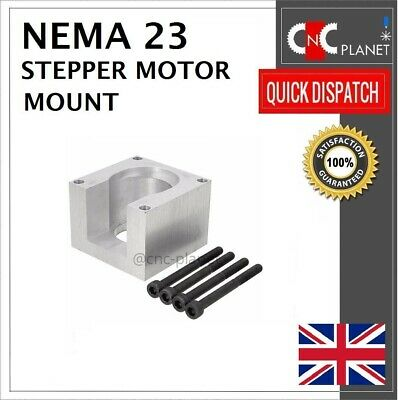 Nema 23 57mm Stepper Motor Mount Aluminum Bracket + Screw CNC 3D Printer UK FAST 3