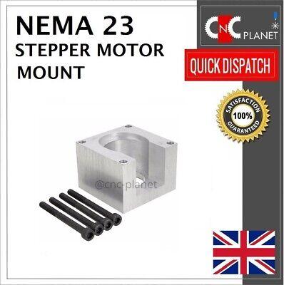 Nema 23 57mm Stepper Motor Mount Aluminum Bracket + Screw CNC 3D Printer UK FAST 2