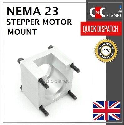 Nema 23 57mm Stepper Motor Mount Aluminum Bracket + Screw CNC 3D Printer UK FAST 11
