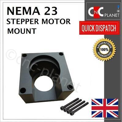Nema 23 Stepper Motor Mount 57mm Aluminum Bracket + Screw Black base CNC UK FAST 3