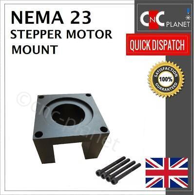 Nema 23 Stepper Motor Mount 57mm Aluminum Bracket + Screw Black base CNC UK FAST 2