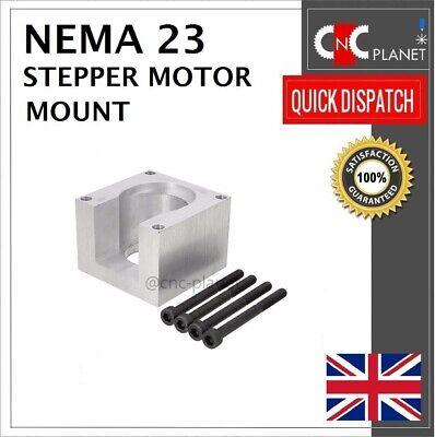 Nema 23 57mm Stepper Motor Mount Aluminum Bracket + Screw CNC 3D Printer UK FAST 6